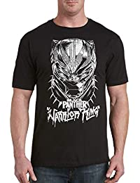 Marvel by DXL Big and Tall Comics Black Panther Warrior King Graphic Tee