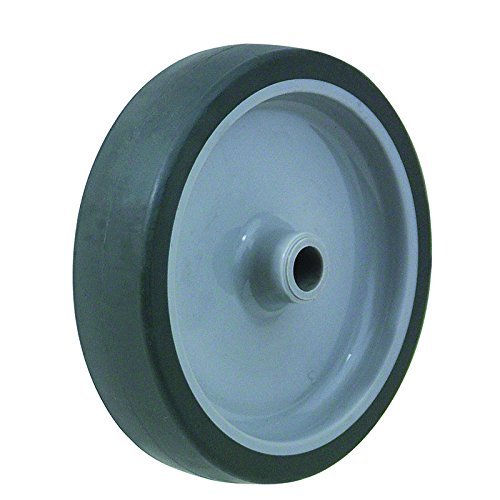 BIL BZL50WVGR Series WVGR Wheel, Vulcanised Rubber On Polypropylene, 50 mm Diameter, 18 mm Tread, 21 mm Hub, 8 mm Bore, 40 kg Load, Grey BIL Group Ltd