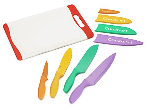 Cuisinart C55CB-9PR Advantage Color Collection 9-Piec Cutlery Set and Cutting Board, Multicolor