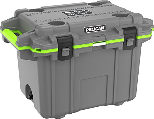 Pelican Elite 50 Quart Cooler (Dark Grey/Green)