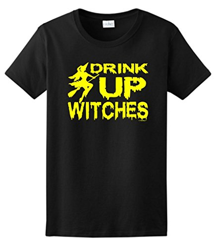 Drink Witches Halloween Ladies T Shirt