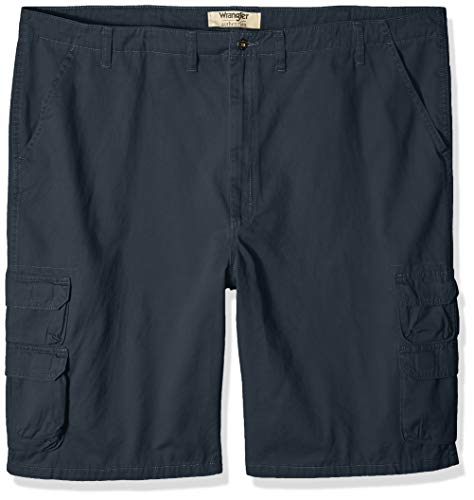 Wrangler Authentics Men's Big and Tall Authentics Bennard Twill Cargo Short, Midnight, 52