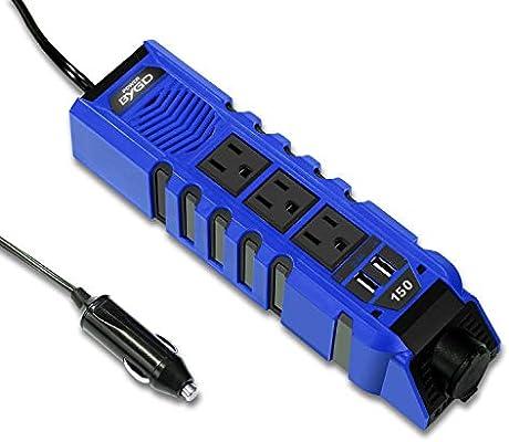 BYGD 150W Car Power Inverter DC 12V to 110V AC Converter