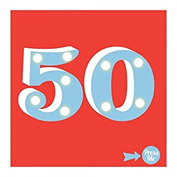 Showtime Light Up 50th Birthday Greeting Card Led Awesome 50