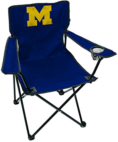 Rawlings NCAA Michigan Wolverines Unisex LP0056NCAA Game Changer Chair, Black, Adult