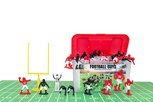 Kaskey Kids Football Guys - Red & White/Navy & White Inspires Kids Imaginations with Endless Hours of Creative, Open-Ended Play - Includes 2 Teams & Accessories - 28 Pieces in Every Set!