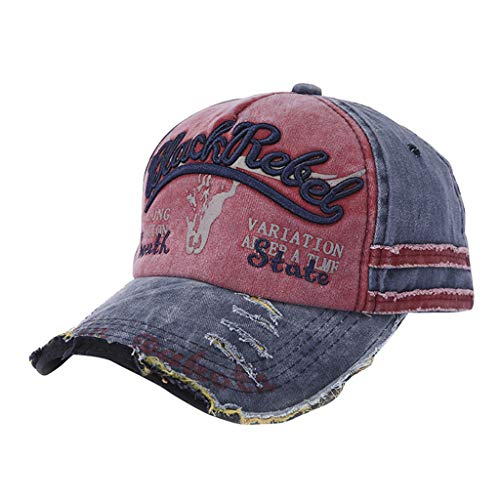 ✨Loosebee Vintage Washed Denim Cotton Sports Baseball Cap for Women and Men