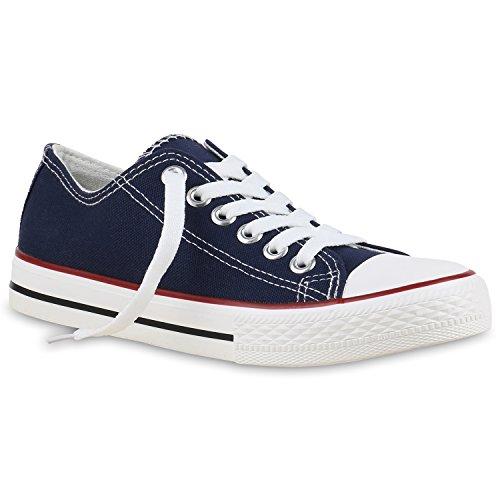 Low Herren Sneaker Unisex Übergrößen Flandell Damen Bernice Rot Stiefelparadies Dunkelblau qIw1FngU