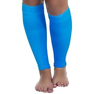Remedy Calf Compression Running Sleeve Socks, Blue, Medium