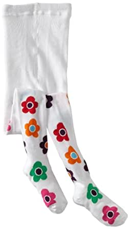 Country Kids Little Girls'  Daisy Tights, White, 1-3
