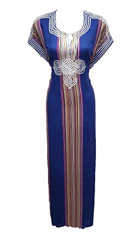 robe dubai maroc bleu gandoura roi orientale Y8wrZY
