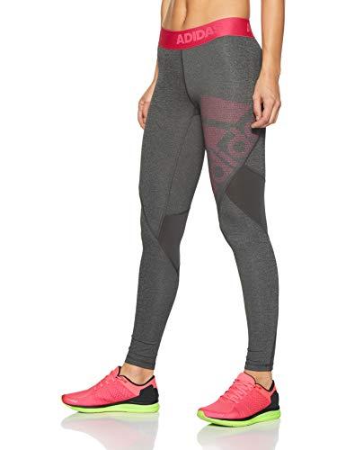 Heather Adidas real Tight Alphaskin Sport Grey Magenta Dark Long black Donna Da 6861qZ