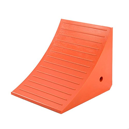 Roadblock UC1210 Impact-Absorbing Industrial Urethane Wheel Chock, Orange, 17