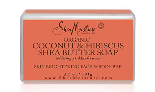 SheaMoisture Coconut & Hibiscus Face & Body Bar, 3.5 Ounce