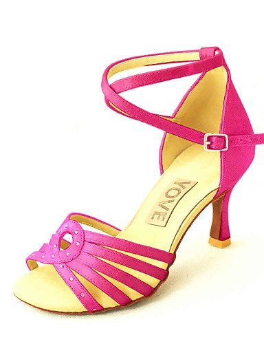 ShangYi Customizable Women's Dance Shoes Latin/Salsa Satin Customized Heel Black/Blue/Yellow/Pink/Purple/Red/White/Fuchsia White ja9p7tE