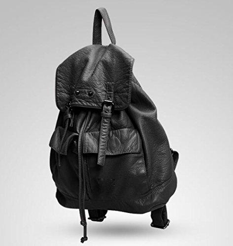 ZHXUANXUAN Mode Pompage Laver Bandoulière Loisirs Sac Vent Femmes En Ceinture Black À Doux Collège Loisirs Cuir AUr5A1wqx
