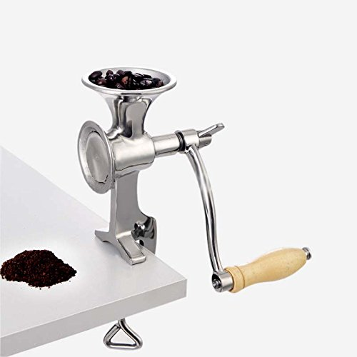 DeFancy Heavy Duty Stainless Steel Table Clamp Corn Manual Coffee Grinder Bean Nuts Spices Grinder