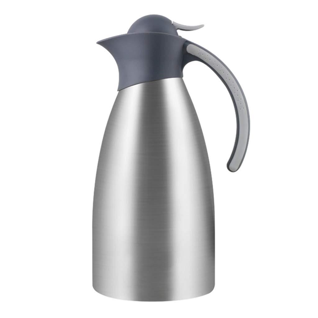FYCZ Thermoskannen, Vakuum 2L Hohe KapazitäT Isolierte Auto-Reisebecher-Flasche Doppelwandige Auslaufsichere Kaffee-Nahrung HeißEs Und Kaltes GeträNk