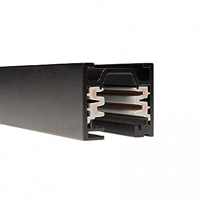 WAC Lighting WT8-RT-BK W Track W2 120V 2-Circuit Recessed Track, 8-Feet