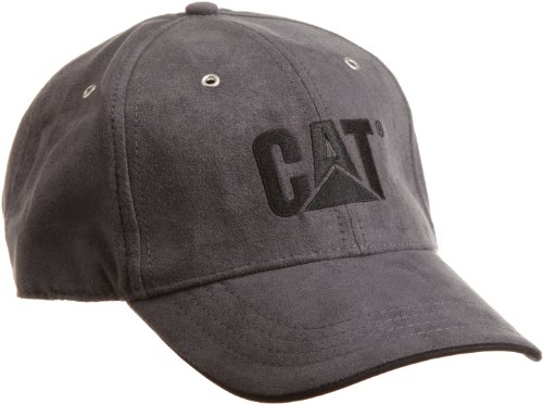 Caterpillar Men's Trademark Microsuede Cap, Graphite, One Size