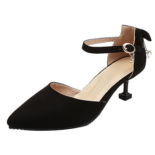 COOLCEPT Damen Sandalen Pointed Toe Black