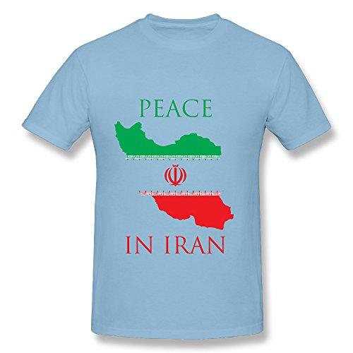 KEMING Men's Peace In Iran T-shirt S Peace Maternity Tee
