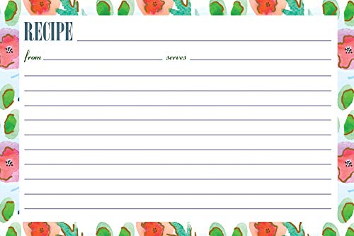(Meadowsweet Kitchens Recipe Card Set - Watercolors)