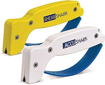 AccuSharp ACCU-012C Messerschärfer und Shear Sharp Scherenschärfer Weiß/Orange