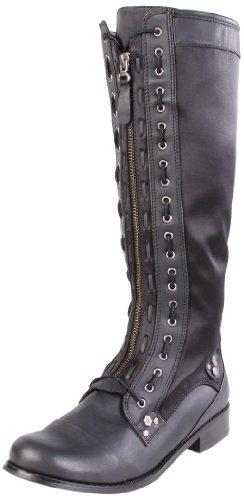 CK Jeans Women's Zoe Mid-Calf Boot - stylishcombatboots.com