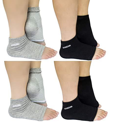 Vented Moisturizing Gel Heel Socks for Dry Hard Cracked Skin Moisturizing Day Night Care Skin,Gel to...