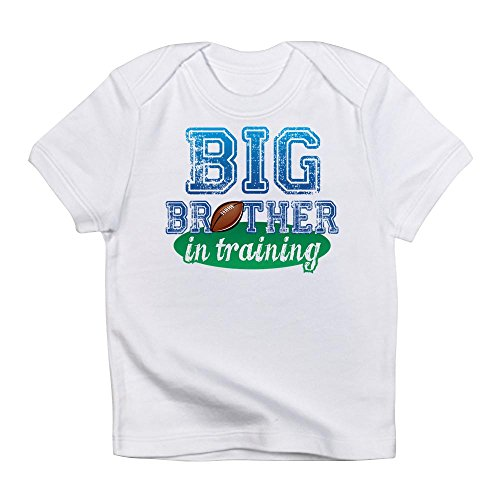 CafePress - Big Brother In Training Football Png - Cute Infant T-Shirt, 100% Cotton Baby Shirt (Ball Png Christmas White)