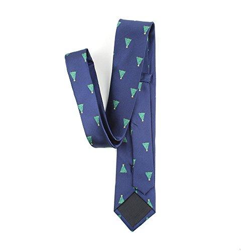 Homme Réglable Jacquard Cravate Noël De Necktie Motif Acvip Sapin bleu Noël Le Accessoire 4SgSd