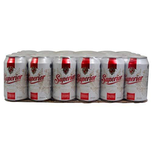 Cerveza Superior Lata - Caja con 4 Six Packs de 355 ml