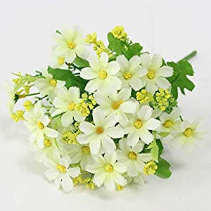 Beafverlond Simulation Flower Small Daisy 7 Branch Cosmos Fake Flower Wedding Decor Home Decoration Living Room Display Silk Flower D 87