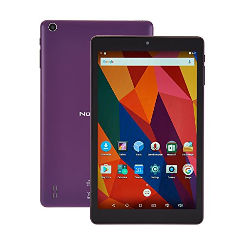 (Nuvision 8 Inch HD Touchscreen Android Tablet with Case, 1.3GHz Cortex-A7 Quad-core Processor, 16GB Storage and 1GB RAM with WiFi, Bluetooth 4.0 and Dual Cameras (Purple))