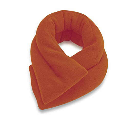(Microwavable Neck Heating Wrap by Sunny Bay - Bean Bag Heat Pad for Neck Pain Relief, Microwave, Hot & Cold Therapy, Extra Long Shoulder Heat Pack, Back Pain Relief (Orange))