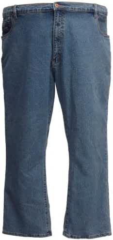 Kam Stretch Jeans Large Size Short Cotton Blue