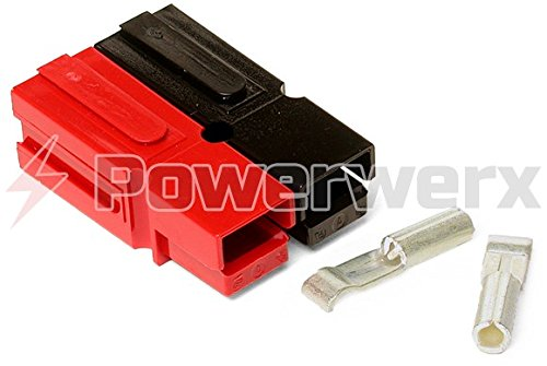 Powerwerx WP15-10 15 Amp Permanently Bonded Red/Black Anderson Powerpole Connectors - 10 Sets by Powerwerx