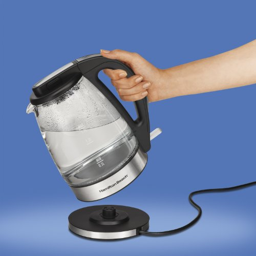 Best Price of Hamilton Beach 40865 Glass Electric Kettle, 1.7-Liter
