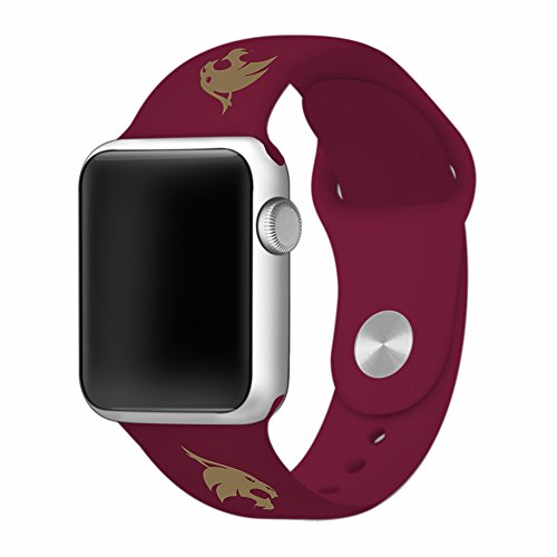Sport State Watch Tigers Steel (Texas State Bobcats 42mm Silicone Sport Band fits Apple Watch - BAND ONLY)