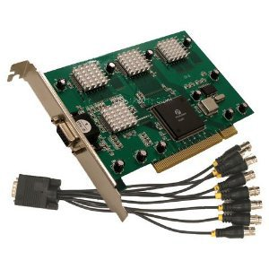 USS808 8 CH Security Surveillance PC PCI DVR Card, Real Time 240FPS Software Included