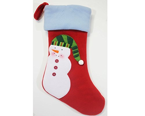 St. Nicholas Square Christmas Felt Snowman Stocking Red 18.5