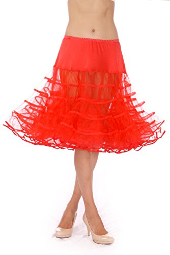 Womens Crinoline Petticoat Underskirt for 50s Poodle Skirt Costume or vintage dresses, by Malco Modes. Tulle tutu skirt, adult dance skirt. Plus size petticoat available ()