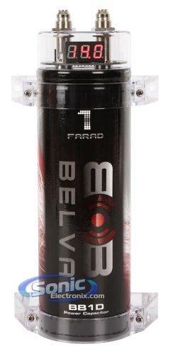Belva BB1D 1.0 Farad Car Audio Power Capacitor/Cap with Digital Red Display (Audio Car Capacitor)