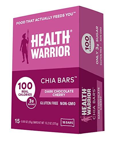 Health Warrior Chia Bars, Dark Chocolate Cherry, Gluten Free, 25g bars, 15 Count