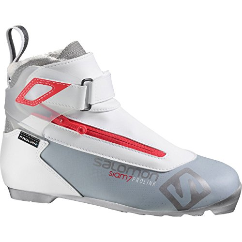 Salomon Prolink Siam 7 Light Boot - Women's Grey/Red, US 8.5/UK (Tour Womens Boots)