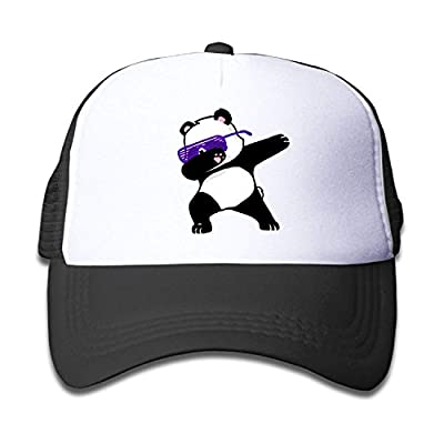 FEAIYEA Funny Dabbing Panda Adjustable Mesh Baseball Caps Kid's Trucker Hats Boy Girl