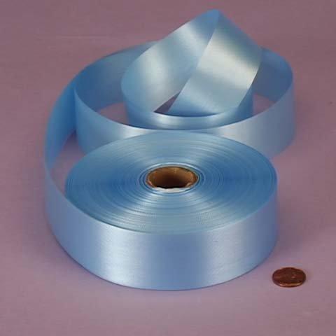 Pastel Blue Embossed Poly Satin Ribbon, 4433779 ()