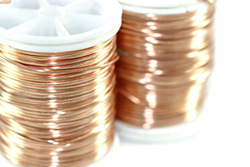 (Artistic Copper Jewelry Wire 18,20,22,26,28 Gauge, Wire Wrapping, Dead Soft Wire, Non Tarnish Copper Wire, 16/28/60/92/155 Feet Artisan Wires (18 Gauge (1 mm) 16 Feet) )