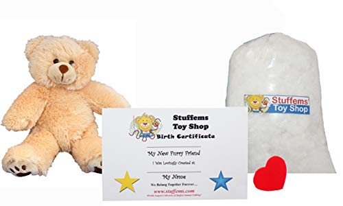 (Make Your Own Stuffed Animal Mini 8 Inch Furry Brown Teddy Bear Kit - No Sewing Required!)